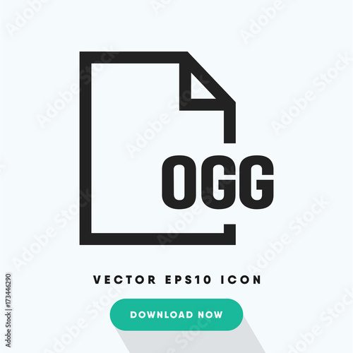 Ogg file vector icon - Buy this stock vector and explore similar