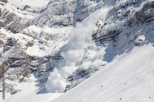 Spoed Foto op Canvas Alpen Winter in alps