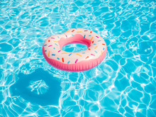 Inflatable Donut Float In A Sw...