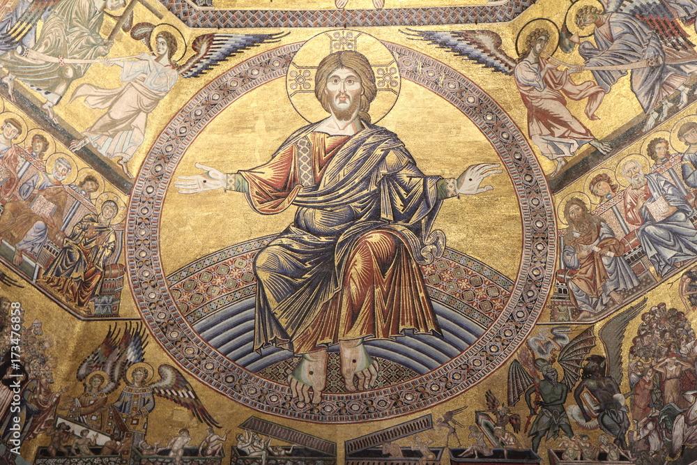 Fototapety, obrazy: Mosaïque du Baptistère de Florence