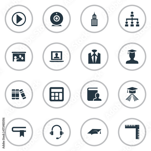 Stampe  Vector Illustration Set Of Simple Seminar Icons