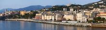 Corsica, 03/09/2017: Lo Skyline Di Bastia, La Città Alla Base Del Capo Corso, Vista Dal Porto Principale Dell'isola Da Cui Partono E Arrivano Traghetti E Crociere