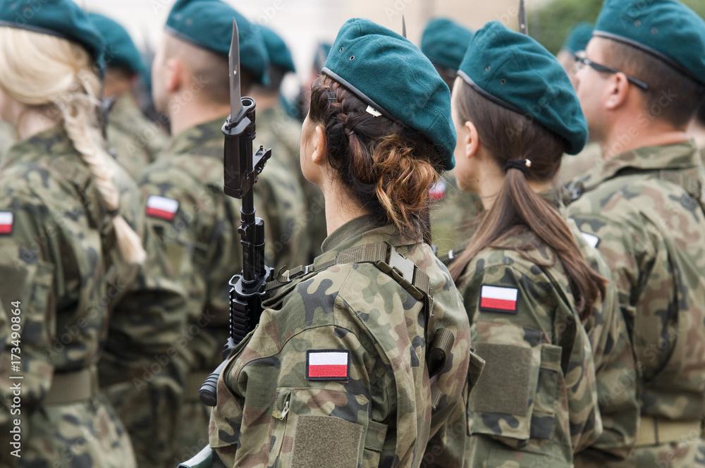 Fototapeta polish soldiers