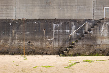 Stairs In A Beach Port On A Su...