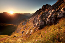 Sunrise In Mountains During Summer