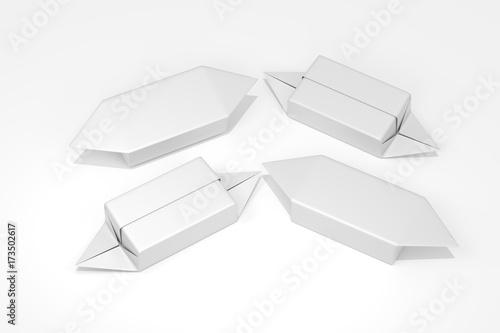 Fototapeta Krówka mleczna na białym tle, opakowanie obraz