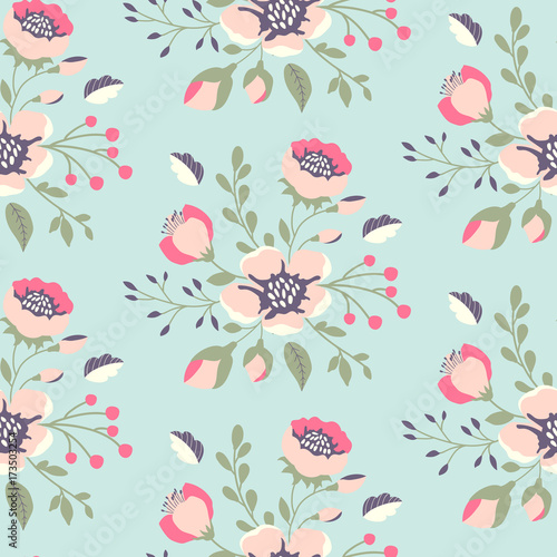 sliczny-kwiatowy-wzor-w-stylu-shabby-chic-wektorowego-kwiatu-bezszwowy-tlo