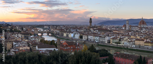 Plakat Zachód słońca nad Florencją