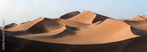 Canvas Print Photographer over the dunes