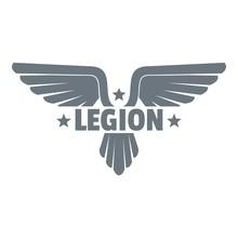 Legion Wing Logo, Simple Gray ...