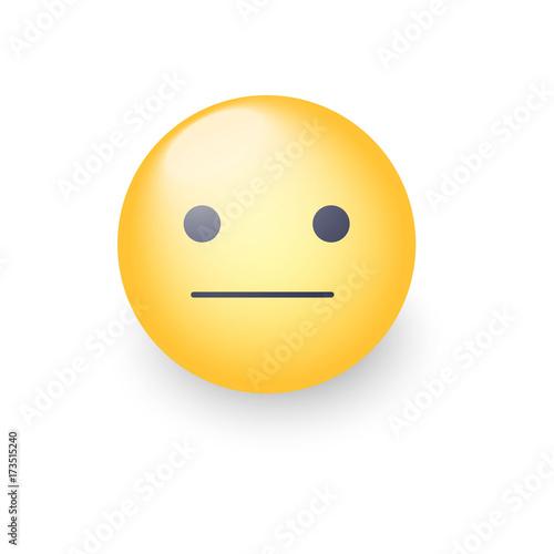 Indifferent emoji cartoon icon Slika na platnu