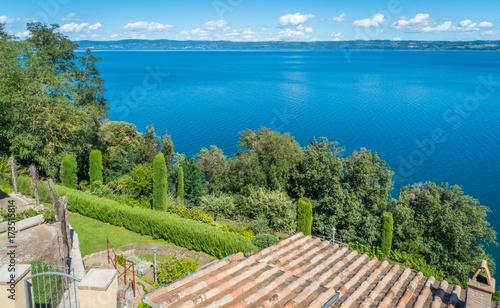 Valokuva  Scenic sight in Capodimonte, on the Bolsena Lake, province of Viterbo, Lazio, central Italy