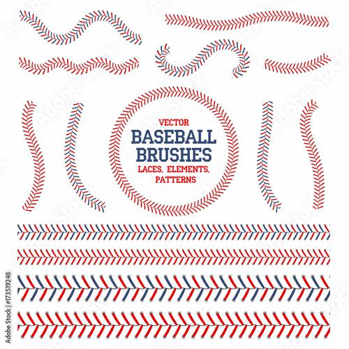 Photo Baseball laces set