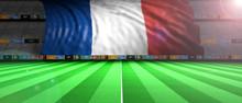 France Flag In An Illuminated ...
