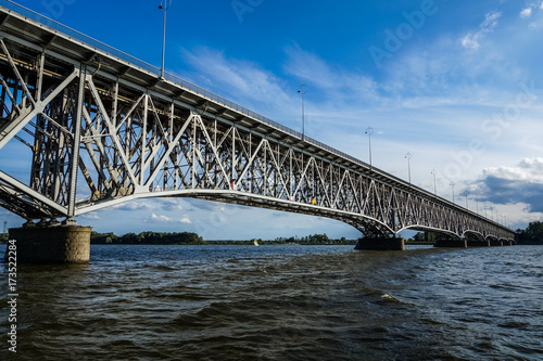 Valokuvatapetti Bridge over Vistula river in Plock, Poland