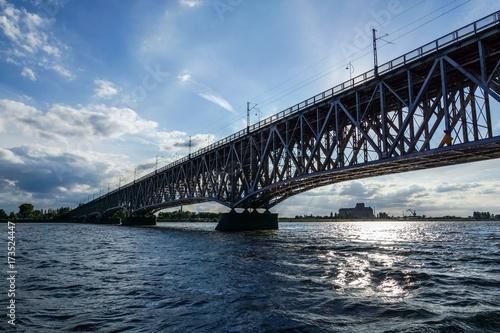 Bridge over Vistula river in Plock, Poland Tablou Canvas