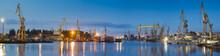 Buildings, Cranes And Dry Docks Repair Yard Gryfia,Szczecin