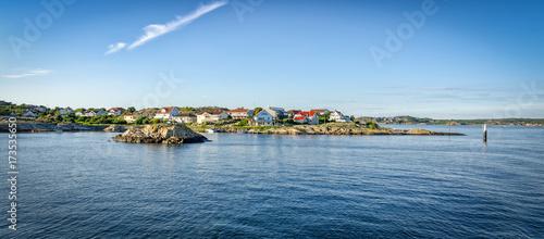 Poster Cote Swedish west coast archipelago in summer panorama