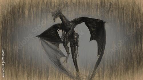 Zdjęcie XXL 3d ilustracja mitologii istota, smok.