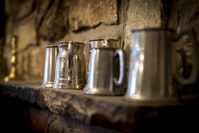 Traditional Pewter Tankard In ...