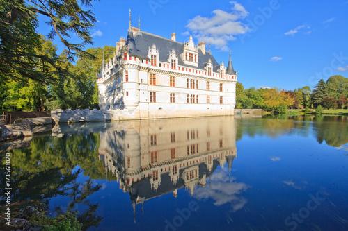 Foto op Plexiglas Kasteel Azay-le-Rideau, château de la Loire