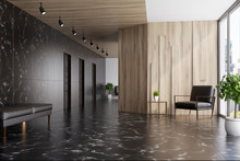 Black Marble And Wooden Elevat...