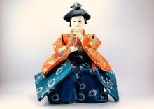 Japanese Doll White Isolated.