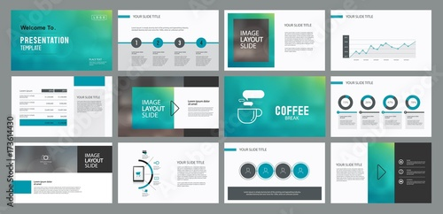 abstract business presentation template design and page