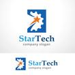 Star Tech Logo Template Design Vector, Emblem, Design Concept, Creative Symbol, Icon