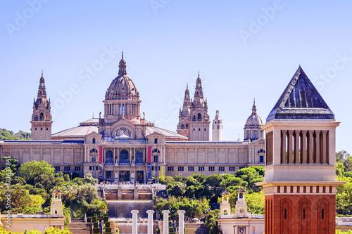 Plakat Talerz Hiszpanii, Muzeum Narodowe w Barcelonie. Hiszpania