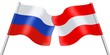 Flags. Russia and Austria