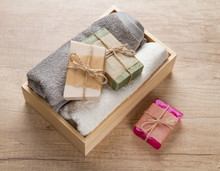 Handmade Soap And Towels In Wo...