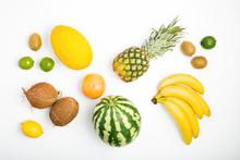 Pattern Pineapple, Watermelon, Coconut, Bananas, Kiwi, Lemon, Grapefruit, Lime, Melon