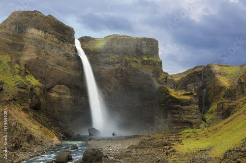 Fotobehang Natuur Park Waterfall Haifoss, Iceland