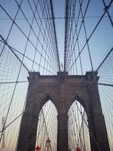 Montage in der Fensternische Brooklyn Bridge bridge