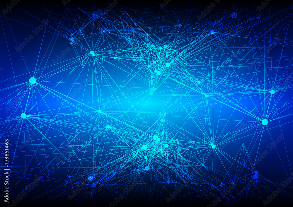 Abstract Mesh Background with Circles, Lines and Shapes.