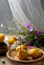 Autumn Still Life With Pears A...