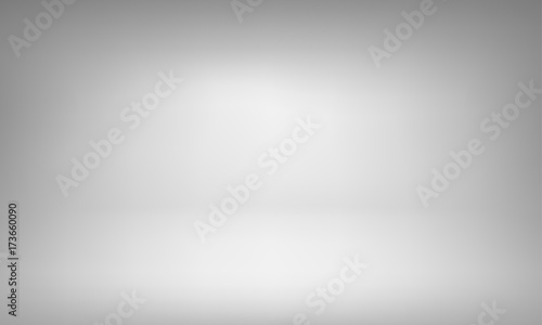 Photo  White studio background with spotlight gradient for premium, luxury product shooting