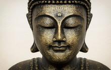 Siddhartha Bronze Statue. Clos...