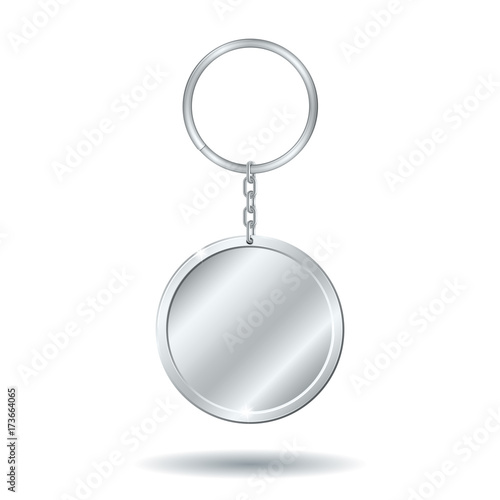 silver keychain circle shape Canvas Print