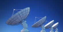 Array Of Satellite Dishes Or R...