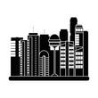 cityscape futuristic buildings icon