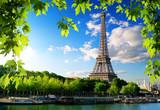 Fototapeta Fototapety z wieżą Eiffla - Seine in Paris with tower