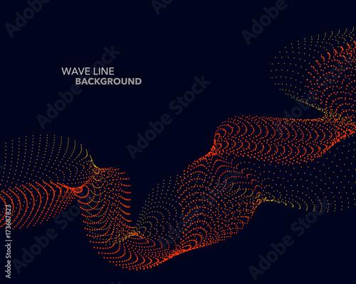 Plakat Elegancka abstrakcjonistyczna wektorowa sieć gradientowej fala kropki linii futurystyczny stylowy tło szablon
