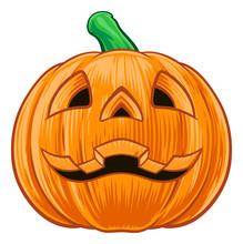 Pumpkin Halloween Illustration
