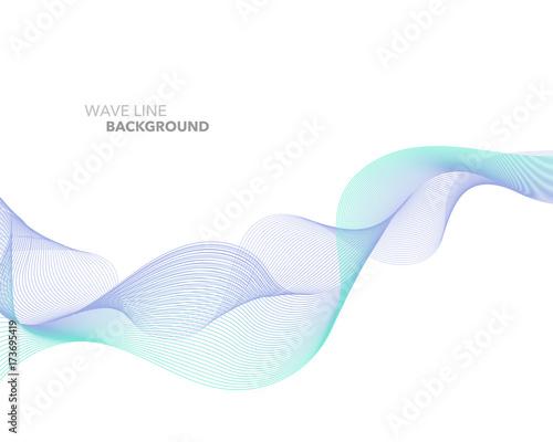 Zdjęcie XXL Elegancka abstrakcjonistyczna wektorowa sieć gradientowej fala linii tła futurystyczny stylowy szablon