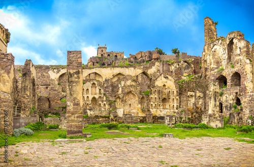 Photo  Indside of the Golconda fort in Hyderabad India