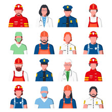 Working People Avatars. Portra...