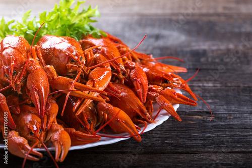 Fotografía  Plate of tasty boiled crayfish