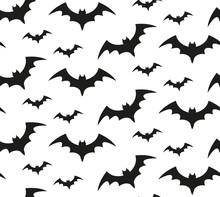 Bat Silhouette Seamless Patter...